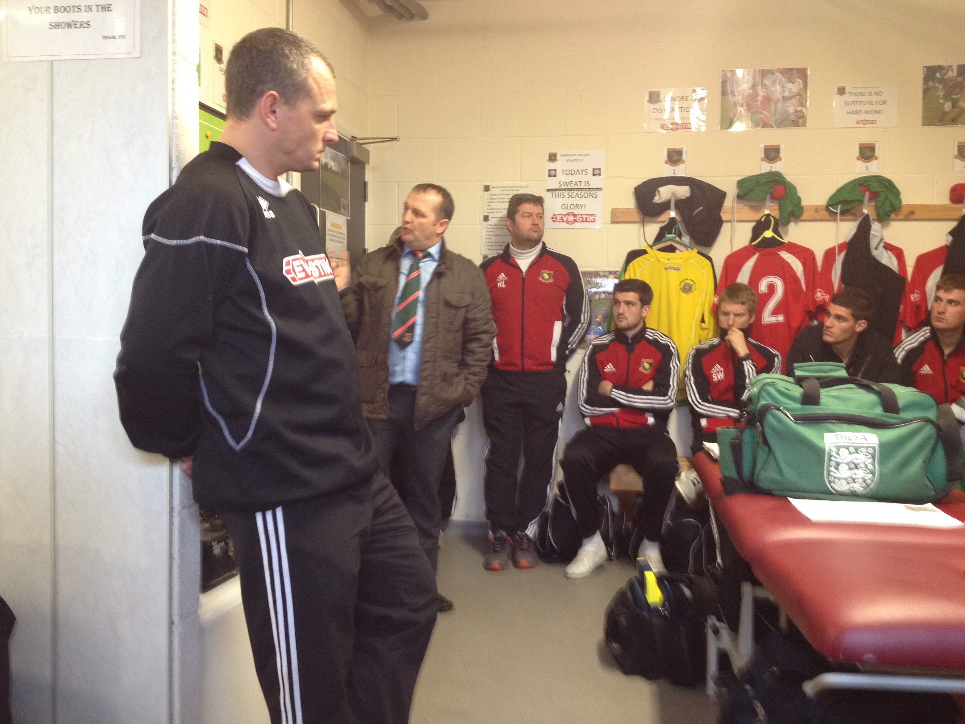 Billy Miller gives his team talk