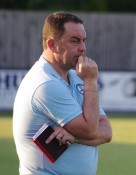Off the mark: Barton Town Old Boys manager Dave Anderson wants his side to climb the Toolstation NCEL Premier Division table