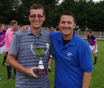 Garforth Town chairman Brian Close (left) with his manager Graham Nicholas