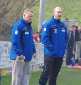 Cleethorpes Town manager Marcus Newell (left) believes his side are capable of finishing the Premier Division top ten