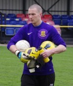 Selby Town goalkeeper Arran Reid saved two penalties in the shootout win over Guiseley