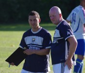 Neil Jones (right) took charge of Garforth Town as Graham Nicholas was ill