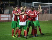 Band of brothers: Harrogate Railway notched up their seventh consecutive victory yesterday