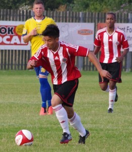 Kler Heh in action for Sheffield United in the friendly with Stocksbridge in July