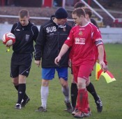 New Shaw Lane signing James Cotterill (right) during his time at Ossett Town under Craig Elliott