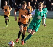 Connor Bower put Ossett Albion in front against Clitheroe. Photo: Adam Hirst