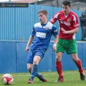Lewis Nightingale opened the scoring for Farsley AFC. Photo: Caught Light Photography