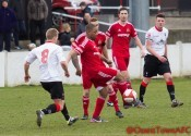 Sanchez Payne in action for Ossett Town during the 3-0 defeat to Salford. Picture: Mark Gledhill