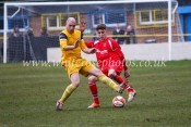 Harrison Biggins attempts to mount an attack for Stocksbridge at Tividale. Picture: www.whiterosephotos.co.uk