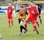 Connor Brunt hit the winner for Ossett Albion against Prescot Cables. Picture: John Hirst