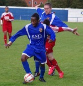 Aaron Joseph was one of only a few first team players who featured for Pontefract Collieries last night