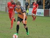 Tim Taylor got Ossett Albion's goal in the 3-1 defeat to Droylsden