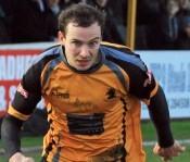 Adam Muller scored in Ossett Albion's 3-0 win at Warrington Town. Picture: Adam Hirst