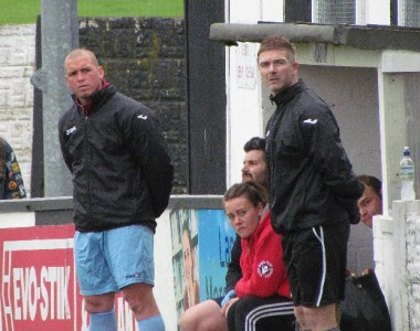 Bryan Hughes (right) and Paul Foot (left) have persuaded Alex Peterson to sign for Scarborough