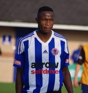 Jono Wafula was on the score-sheet twice for Shaw Lane Aquaforce