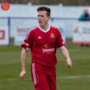 Simon Rogers gave Ossett Town the lead against New Mills. Picture: Mark Gledhill