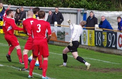 Josh Greening equalises for Tadcaster