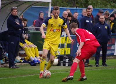Tom Corner enjoyed his best game for Tadcaster since arriving from Scarborough