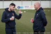 Reuben Pearse (left) and Nigel Emery (right) have been handed the permanent manager's position at Selby Town. Picture: Malcolm Bryce