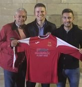 Selby chairman Ralph Pearse (left) with Pete Lawrie and Calum Ward