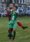 Glasshoughton striker Nathan Keightley secured a replay with Hemsworth in the FA Vase. Picture: alexdanielphotos.co.uk