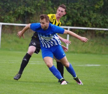 New Shaw Lane striker Joel Purkiss in action for Hallam at Nostell recently