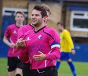 It was me: Garforth captain James Beaston claims his goal - which put Garforth 2-0 up